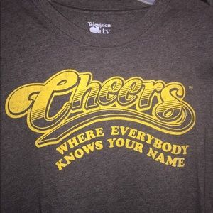 CHEERS Where Everybody Know Your Name Gray Med Tee